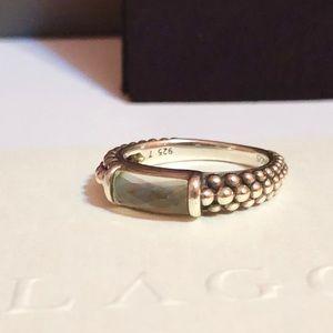 Lagos Maya Abalone Caviar Sterling silver ring